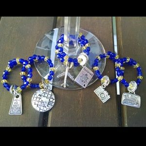 Travel/United Wine Glass Charms