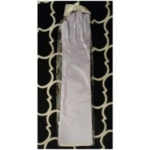 Long Satin Gloves Halloween Costume Lavender