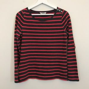 Boden Striped Long Sleeved Top