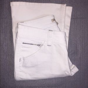 CAbi Size 4 Zipper pocket Jeans White