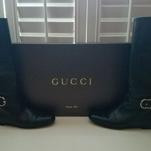 AUTHENTIC BLACK GUCCI RIDING BOOTS