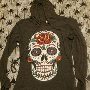 Hooded Day of the Dead Long Sleeve