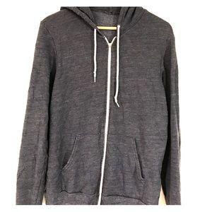 Navy American apparel triblend hoodie