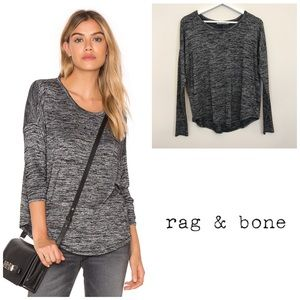 Rag & Bone Hudson Long Sleeve Top Heather Gray