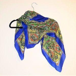 VTG  Silk Boho Handkerchief Scarf Estate Auction
