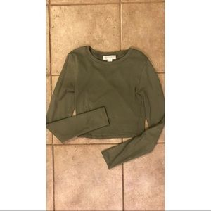 Forever21 army green crop top