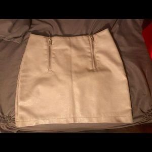 Forever 21 High Waisted Leather Skirt