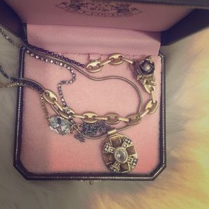 Juicy couture multi layered necklace