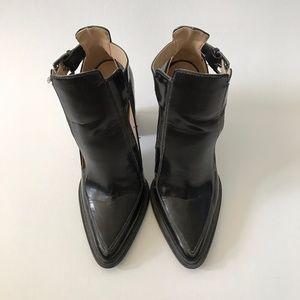 AUTHENTIC Zara Black Ankle Cut Out Bootie SZ 8