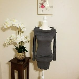 BCBGMAXARIA Sweater Dress Tunic Gray