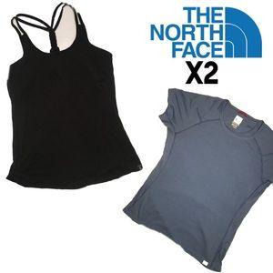 The North Face sport bra top & vaporwick shirt