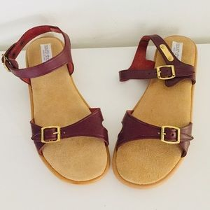Vintage Oxblood Leather Sandals Unused 8