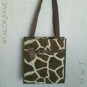 Giraffe Print Tote / Bag - NEW WITH TAG!