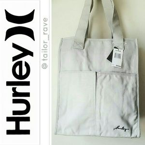 HURLEY Grey Canvas Tote / Bag *NEW WT*