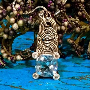 ❗️HOLD❗️Robert Manse Sterling Blue Topaz Necklace