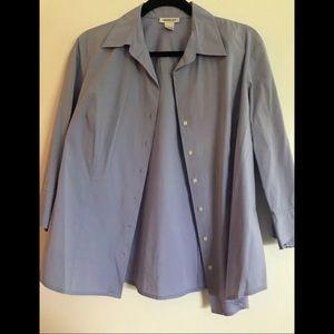 Harolds brand Button Up blue shirt size large EUC