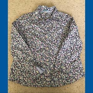 G.H.Bass Womens button down Floral Blouse Size XL