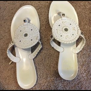 Jack Rogers White Jelly Sandals Flip Flops