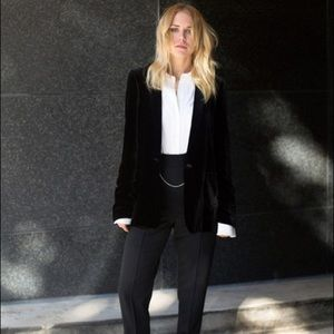 Zara Black Velvet Evening Blazer