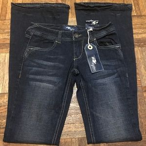 Style Jeans - Distressed Rhinestone Bootcut Jeans Junior Size 1