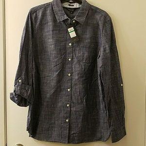 Tommy Hilfiger Cotton Chambray Shirt