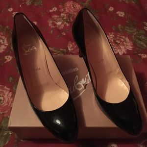 Christian Louboutin simple pump 85 black patent
