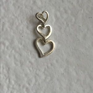 Three hearts Sterling pendant
