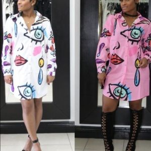 All Eyez Shirt Dress