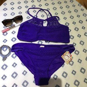 Juniors purple bikini set