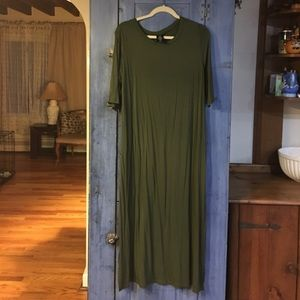 Agnes & Dora XL olive green Lee dress NWOT