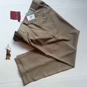 NWT Covington tan pleated & cuffed dress pants