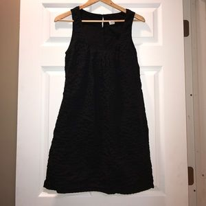 J.Crew Size 6 100% Cotton Black Dress