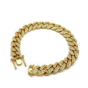 14K GOLD PLATED LUXURY MIAMI CUBAN BRACELET