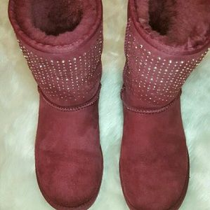 Authentic UGG Boots With Bling Swarovski Crystals