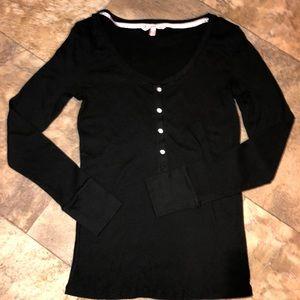 Victoria Secret Black Shirt Euc Large