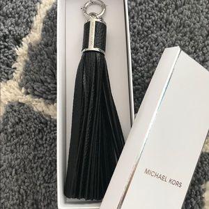 Michael Kors Leather Tassel Key / bag charm