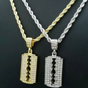 Iced out Fashion  Razor Blade Chains