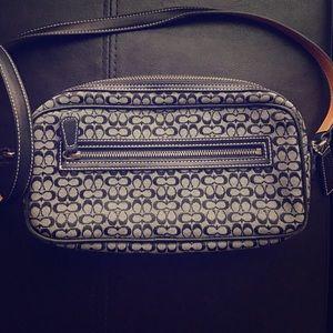 Black and grey vintage Coach crossbody bag