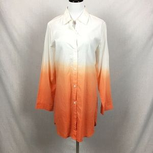 Tommy Bahama ombre beach cover up button down
