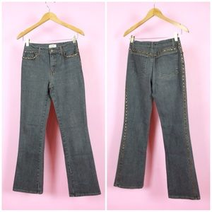 Moschino Gray Wash Studded Bootcut Jeans