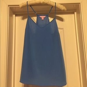 Lilly Pulitzer Dusk Tank Top in Solid Blue