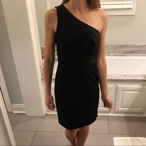 J. Crew black one shoulder dress. Size 2.