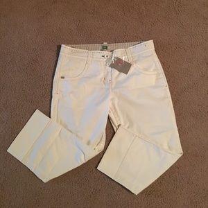 Taia Cream cropped pants size 10
