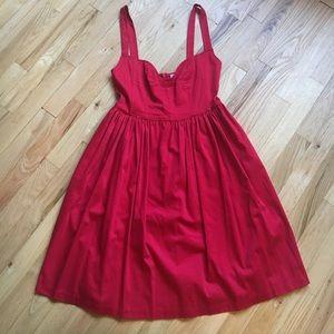 Aqua Red Party Dress