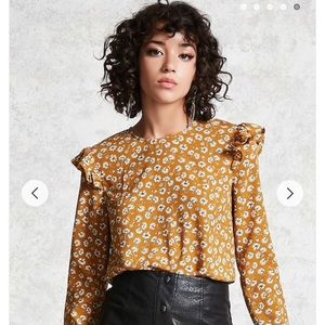 Forever 21 ruffle floral top