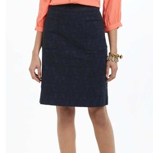 Anthropology Lace Patterned Pencil Skirt
