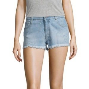 Stella McCartney distressed star shorts