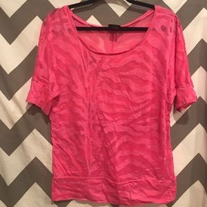 Pink burn out shirt size extra-large