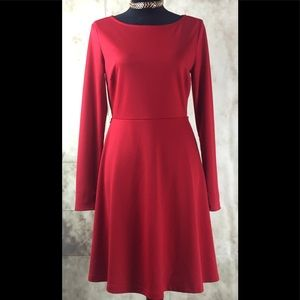 The Limited Red Skater Dress