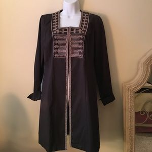 Embroidered long blazer by Cabi.